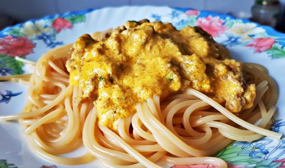spageti su moliugu padazu